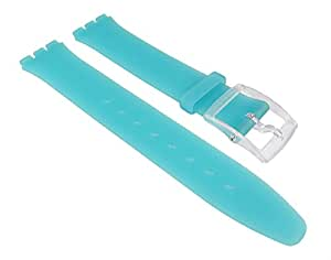 Swatch ASFK363-Band - Bracelet pour montre, silicone, couleur: turquoise