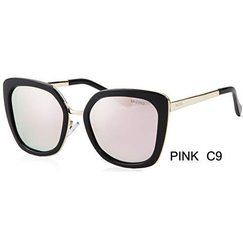 ZRTYJ Sonnenbrillen Promi Polarisierte Frauen Sonnenbrille Cat Eye Mirrored Protection Damen Sonnenbrille Markendesigner