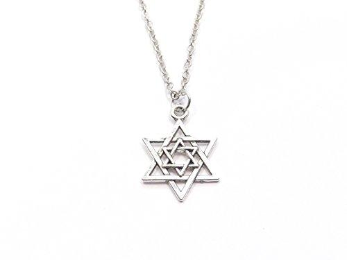 chöne Halskette Kette Anhänger Davidstern Kabbala Israel Jüdisch Stern von David Juden (Silber) (Schwester Jude)