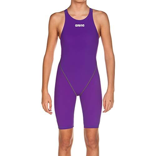 arena Mädchen Powerskin ST 2.0 Einteiler offener Rücken Racing-Badeanzug, Mädchen, Badeanzug, Powerskin St 2.0 - Open Back, violett, 28