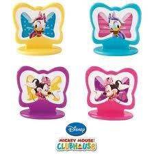 Wilton - Disney - Cloubhouse - Minnie Mouse - Minnie Maus - Daisy Duck - je 4 x - insgesamt 8 Stück - Muffin Dekoration - Toppers - aus USA Wilton Daisy