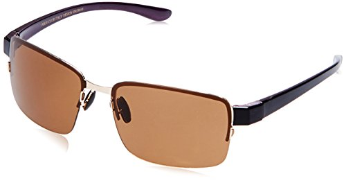 San Diego Polo Club UV Protected Rectangular Men Sunglasses - (P11004-1 55 Brown lens)