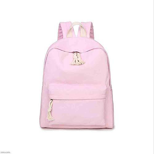 Sunny Mädchen-kleidung (Sunny Fresh Simple Rucksack Schulranzen Mädchen College Mini Pulver/Grün 14 Zoll Laptop (Farbe : Pink))