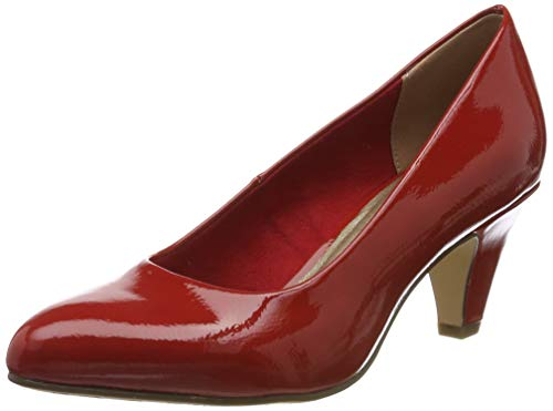 Tamaris Damen 1-1-22416-23 Pumps, Rot (Chili PATENT 520), 39 EU