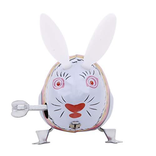 LIXIAQ1 Kinder Klassische Spielzeug Zinn Wind Up Uhrwerk Spielzeug Springen Eisen Kaninchen Klassisches Spielzeug Geschenk Festival kinder Geschenk Party Supplies Früherziehung Spielzeug - Wind-up Spielzeug Zinn
