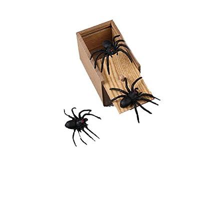 YeahiBaby Caja de Araña de Madera Caja de Broma Regalo para Niños de YeahiBaby