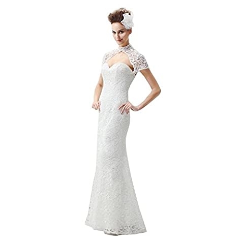 YUXING® wedding dress white long evening dress new high-end lace satin for evening wedding banquet