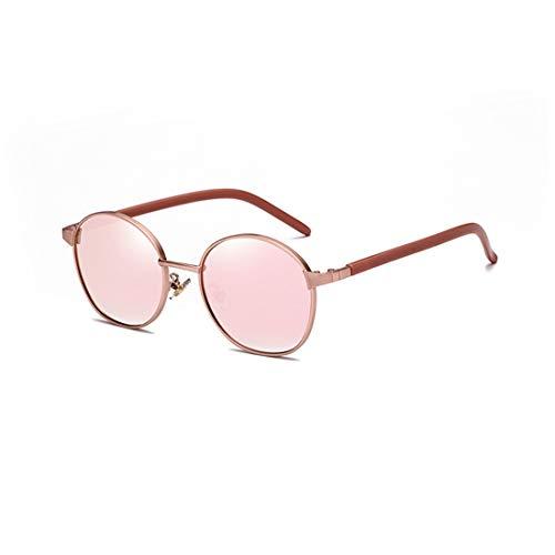 Easy Go Shopping Sonnenbrille Zweifarbige reflektierende Linse Vintage Style Classic Frame Unisex UV400 Schutzbrille. Sonnenbrillen und Flacher Spiegel (Farbe : Rosa)
