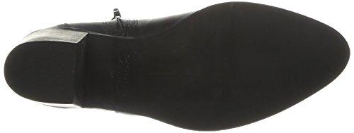 PIECES Umiko Leather Zipper Boot, Damen Stiefel & Stiefeletten Schwarz - Schwarz (Black)