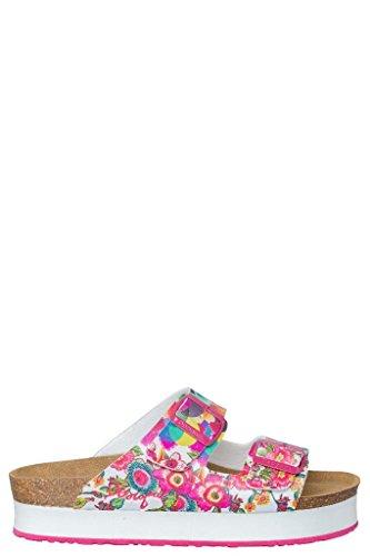 Desigual Silvi Sandales Ros'à enfiler avec plateforme - Pink and White Floral
