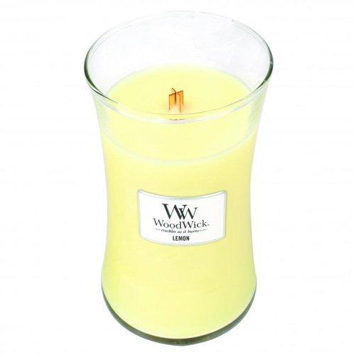 Zitronen-salbei-kerze (WoodWick 93067 Duftkerze, Glas, transparent, 10,2 x 17,4 x 10,2 cm)