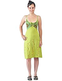 Slip robe de femmes Avec colorés Broderie Fleur