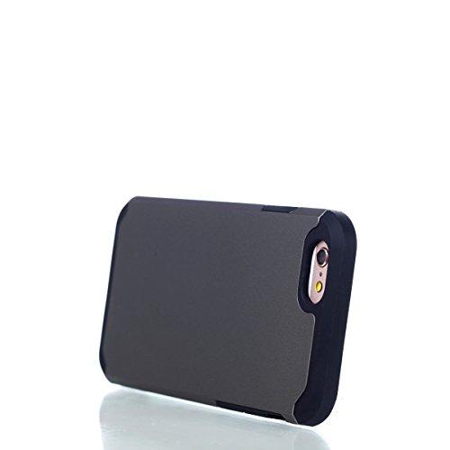 Per iphone 6 6S 4.7 pollici Custodia, Ekakashop di lusso Hybrid Heavy Duty antiurto morbido silicone Gel & Rigida PC 2-in-1 non Layer antiscivolo Anti-dirt Protezione Protettivo Cover Case per Apple i Grigio