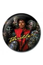 Click for larger image of Michael Jackson Thriller Album Licensed Metal Pin Badge