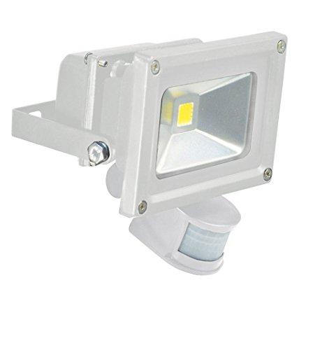 Electrovision - Projecteur Blanc à LED avec Détecteur PIR - Dimensions: 10W