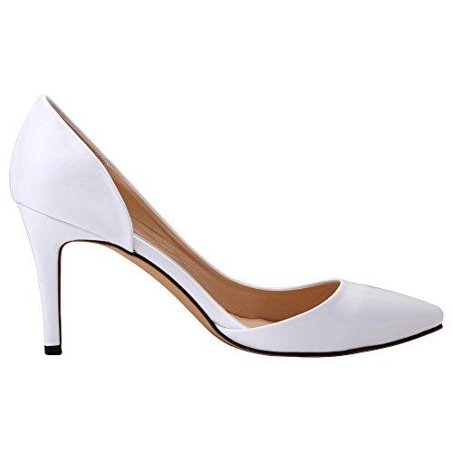Flyrcx moda europea elegante temperamento appuntito tacchi a spillo colorati signore singoli scarpe da sposa scarpe da lavoro ufficio, 37 eu, n