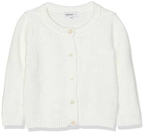 Noppies Unisex Baby Strickjacke U Cardigan Purl ls Paramus, Elfenbein De Blanc P002, 56