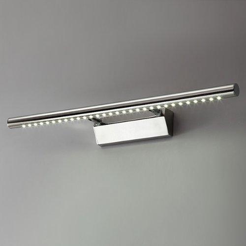 Lampada-Bagno-Parete-Specchio-7W-Bianco-30-LED-SMD-5050-AC110-240V-Acciaio-Inox
