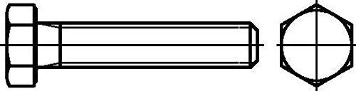Dresselhaus Sechskantschrauben A2 mit Gewinde bis Kopf, M 8 x 35 mm, 200 Stück