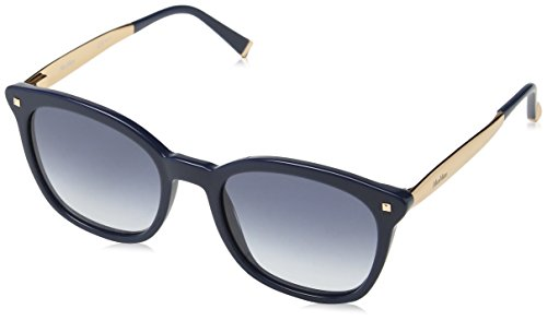 Max mara mm needle iii u3 2pw, occhiali da sole donna, blu (bluette gold/grey grey), 52