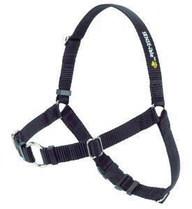 Erziehungsgeschirr für temperamentvolle Hunde - Das SENSEation Harness Erziehungshalsband für Hunde, die stark an der Leine ziehen - Anti Zieh Garantie! (Schwarz, L 2.5cm)
