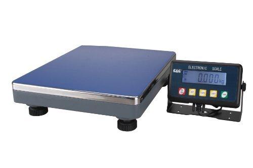 GundG PSE200K - Bilancia digitale compatta a piattaforma, per industria, 200kg/10g, utilizzabile a batteria