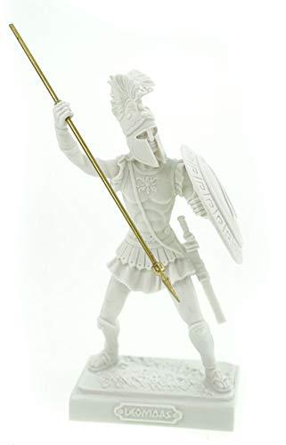 Alabaster Leonidas König von Sparta Figur Skulptur 20 cm weiß