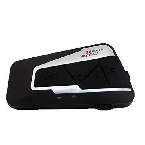 Uzinb Moto Casco Bluetooth Headset Intercom 3 Riders Impermeabile BT Wireless Intercomunicador citofono