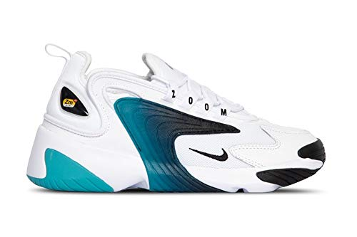 Nike Zoom 2k, Scarpe da Trail Running Uomo, Multicolore (White/Black/Teal Nebula 106), 42 EU