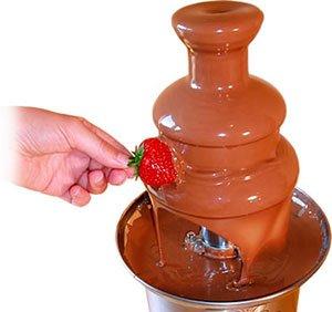 Fuente de chocolate de 41cm de altura, acero inoxidable