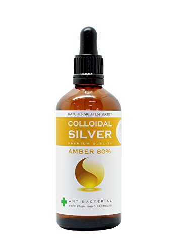 Enhanced Premium argento colloidale ambra 80% 100ml contagocce