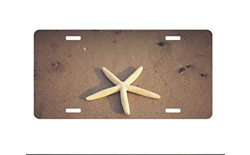 (Fhdang Decor Seestern, Sea Life Nummernschild, Autokennzeichen, Autokennzeichen, Ozean, personalisierbar, 15,2 x 30,5 cm)