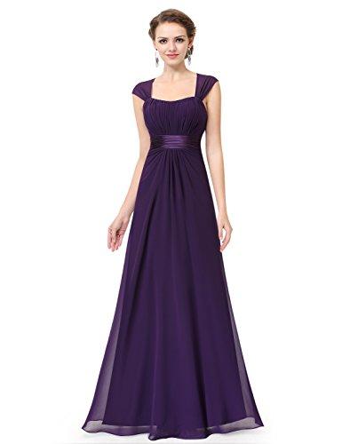 Ever Pretty Damen Ärmellos Bodenlang Abendkleider Maxikleider 36 Größe Dunkel violett