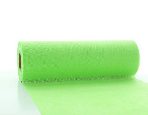 (Vlies-Tischläufer Tischband Lime-Grün 30cmx20m | abwaschbar | Tischdeckenrolle stoffähnlich | Feier | Geburtstag | Party (auf der Rolle) (Lime-Grün))