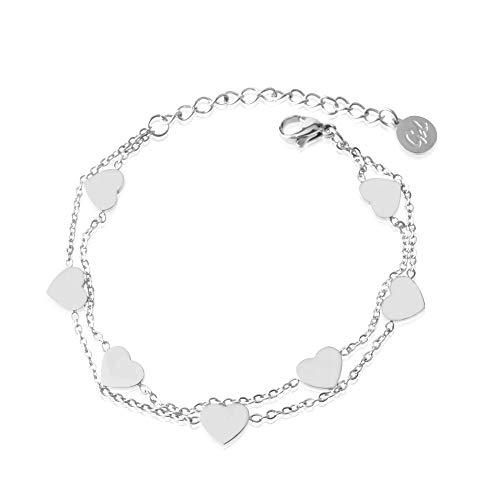 Armkettchen Freundschaftsarmband silber silver silbernes Herzarmkettchen silberne Armkette Herzarmkette Armband Herzarmband Silberkette Silberarmkette Silberarmband silberfarben