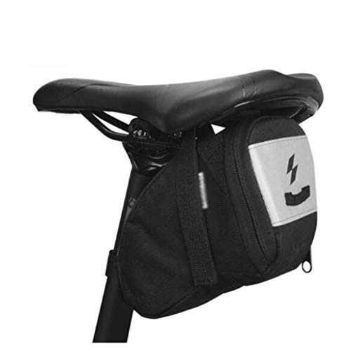 LXVY Rennrad-Satteltasche, Fahrradtasche Wasserabweisende Satteltasche Für Mountainbikes Rückentasche Mit Reflexstreifen Zum Tragen des Fahrrads