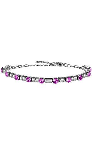 Breil bracciale donna collezione rolling diamonds con pietre multiple in crystal jewellery