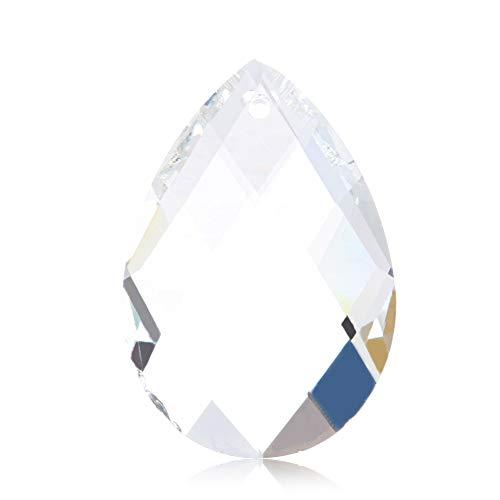 Xuniu 1 Stück Klar Kristall Kronleuchter Lampe, Raster Glas Lampe Prismen Teile Hängen Tropfen Anhänger Wohnkultur 38mm - Kristall Hängen Anhänger