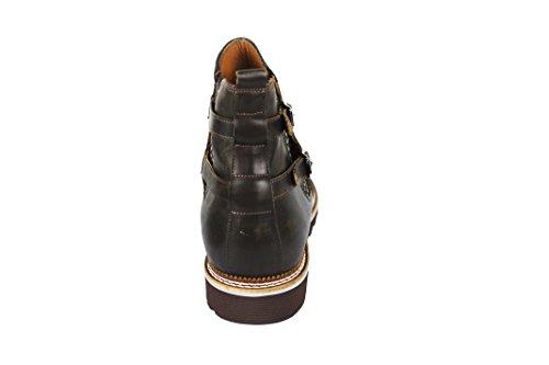 Zerimar Stiefel mit 7 cm Innen Steigt Schuhe für Männer Erhöhen auf Unsichtbare Weise Ihre Körpergrösse, Höhe Steigerung, Versteckter anhebender Ferse, 100% Leder Taupe