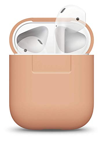 Elago protettiva custodia in silicone per apple airpods - [extra protezione cover] [inserimento perfetto] (pesca)