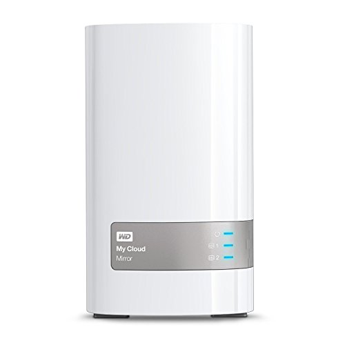 WD My Cloud Mirror 4TB USB 3.0 Personal Network Attached Storage (White)