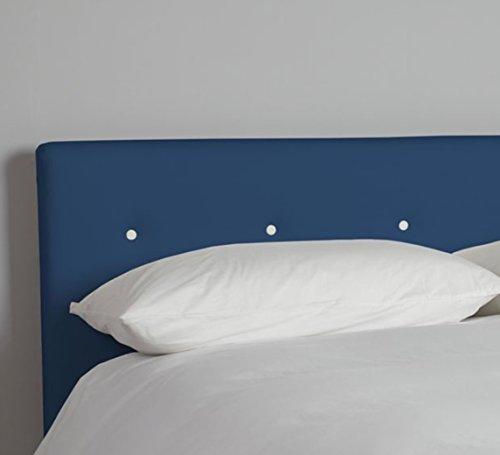 suenoszzz Kopfteil Chenille Polka (Betten 80cm Aura Camas de 135 cms 145x57 ( Cabecero para Colgar) blau/weiß