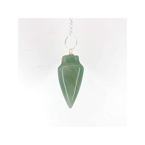 Mineral Import Tropfenpendel aus grünem Quarz