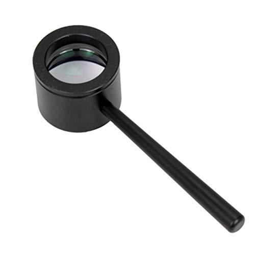 ZDNALS 10X25mm optisches Objektiv Handheld-HD-Vergrößerungsglas-Erkennungsglas schwarz Lente d'ingrandimento