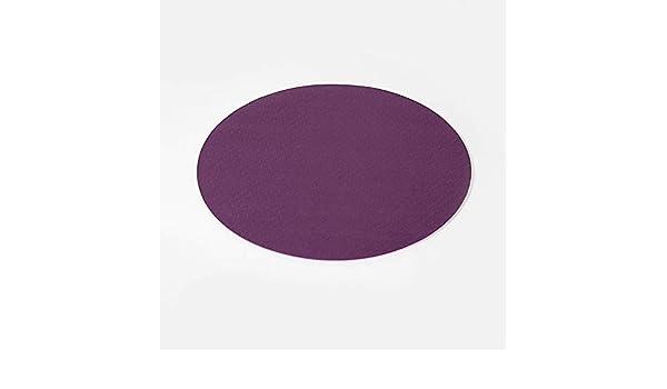 Huikafir Tapis de Danse Rond Tapis de Support Plat Anti-d/érapant Tapis de Fitness Yoga Pilates Violet fonc/é