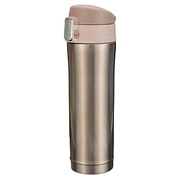 Thermosflasche,camtoa Thermoskanne Trinkflasche Edelstahl 500ml Tragbarer Tee Kaffeeheißgetränk Tasse Für Laufen, Fitness, Yoga, Auto Camping, Reisen, Fischen-führer. 1