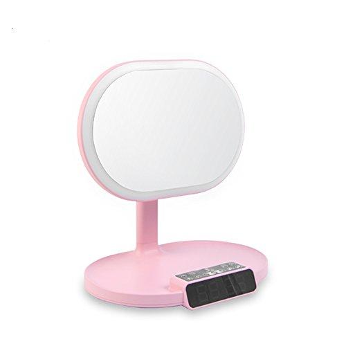 Multifunktions-Eitelkeits-Spiegel, LED-intelligenter Fülle-Licht-Bluetooth-Lautsprecher-Wecker, zum der Lesetabellen-Lampe zu erinnern, einfach und stilvoll Zwei Farben sind verfügbar. ( Farbe : 1 )