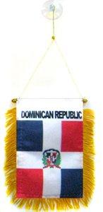AZ FLAG Fanion République Dominicaine 15x10cm - Mini Drapeau dominicain 10 x 15 cm spécial Voiture - Bannière