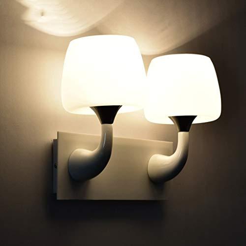 GCCI Kreative Sache-Wand des Weißmetall-einfachen einzelnen Kopfes der Pilze in der weißen Glaswandlampe führte zu Einem Nachttischlampen-Schlafzimmer zum Schatten der Flur-Badezimmer-Licht-Persönlic -