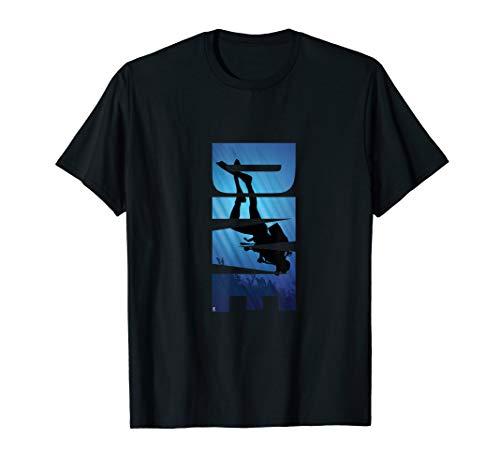 Taucher Diver Tauchen Unter Wasser Geschenk T-Shirt